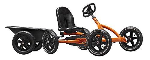 Berg Pedal Go-Kart Buddy Orange inkl Anhänger u Anhängerkupplung ,0235