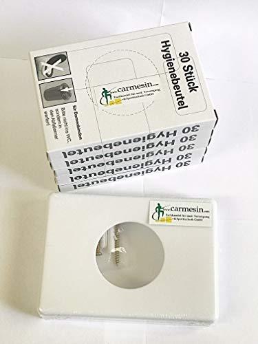 Hygienebeutelspender weiss + 5x 30 Hygienebeutel Starterset