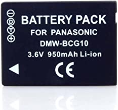3.60V,895mAh,Li-ion,Hi-quality Replacement Digital Camera Battery for PANASONIC Lumix DMC-ZS5, Lumix DMC-TZ6, Lumix DMC-TZ7, Lumix DMC-TZ8, Lumix DMC-ZS7, PANASONIC Lumix DMC-TZ10, Lumix DMC-ZR1, Lumix DMC-ZR3, Lumix DMC-ZS1, Lumix DMC-ZS3, Lumix DMC-ZX1, Lumix DMC-ZX3 Series, Compatible Part Numbers: DMW-BCG10, DMW-BCG10E, DMW-BCG10PP