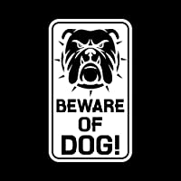 車のステッカーの装飾 8.8CM * 15CMのステッカー車デカールグラフィックビニール黒を警告犬の注意犬の注意/シルバー (Color Name : Silver)