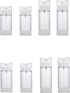 JSF Airless Pump Bottle Min/Empty, Refillable Fine Mist Spray Container & Cosmetic Atomizers, Liquid Sample Travel Set, Em...