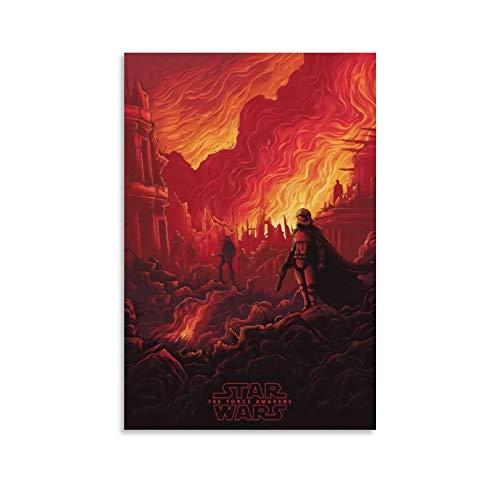 DRAGON VINES Star Wars Phasma Kunstdruck auf Leinwand, Kunstdruck, Leinwanddruck, Wandkunst für Wohnzimmer, Zuhause, Büro, 30 x 45 cm