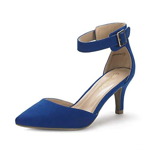 potente para casa Un par de zapatos de tacón bajo clásicos de ensueño para mujer Royal Blue 39.5EU / 8.5 US