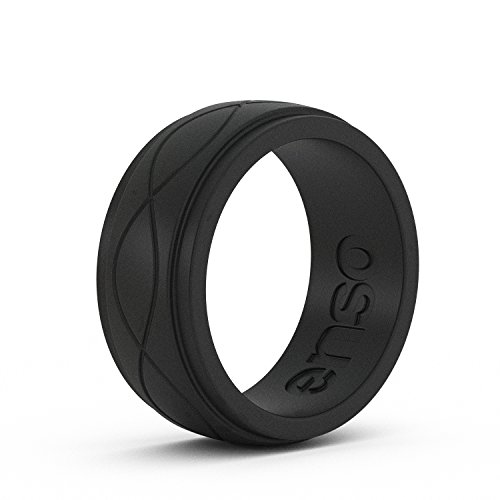 Enso Mens Infinity Silicone Ring, Obsidian Black 13