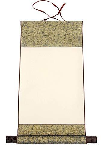 Calligraphie chinoise peinture rouleau de papier de riz antique vierge (50 * 27 cm), H4