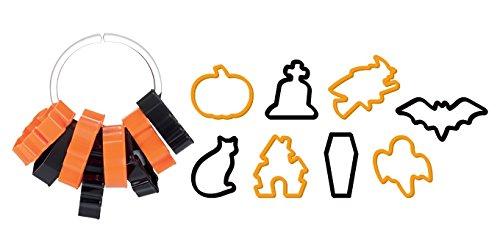 Tescoma 630907 , formine tagliabiscotti Delicia per Halloween, 8pezzi, colori assortiti