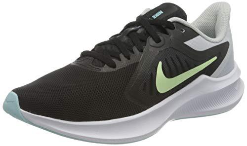 Nike Wmns Downshifter 10, Scarpe da Corsa Donna, Black/Barely Volt-Pure Platinum-Glacier Ice, 36.5 EU