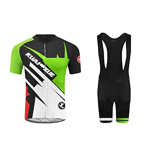 Uglyfrog Men's Cycling Suits Short Sleeve Cycling Jersey Shirt + GEL Padded Riding Tights Quick Dry Cycling Clothing Set for Outdoor Sport Cycling Biking