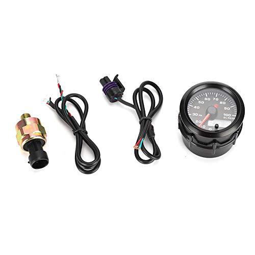 Öldruckanzeige, 2 Zoll 52 mm 0-100 PSI Autoöldruckanzeige Zeiger 7-Farben-Digital-LED-Anzeige mit Sensor