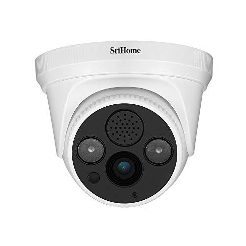 Sricam SriHome SH030 - Cámara WiFi IP inalámbrica con Infrarrojos de 3,0 megapíxeles, HD IR Cut ONVIF P2P, Soporte SD y Audio