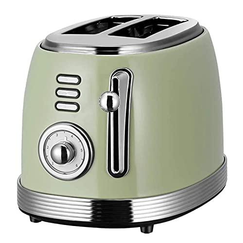 Adesign Tostadora Retro Casa Tostadora Tostadora Mini tostadora Máquina de tostadora 2 Rebanada Sandwich Maker Máquina de Desayuno Tostadora Retro