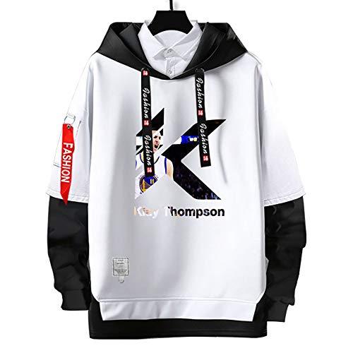Sudaderas con Capucha de warriors #11,#goldenState # klay thompson Pullover Uniforme de Baloncesto Fans Camisetas de Entrenamiento,Moda Casual, sin Deformación,para Hombre y Mujer,White-S