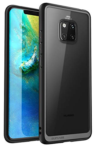 SUPCASE Cover Huawei Mate 20 PRO, Custodia Protettiva [Unicorn Beetle Style] TPU Bumper e Posteriore Trasparente Case per Huawei Mate20 PRO 2018 (Nero)