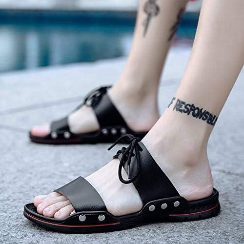 Shukun Tongs Hommes Personnalité De L'été Sandales des Mots Sandales des Hommes De La Plage des Hommes des Sandales Et des Pantoufles Mode Porter des Pantoufles