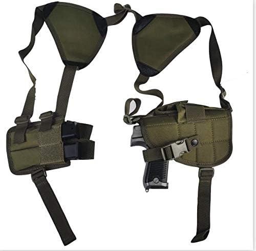 NO LOGO L-Yune, Nuevo al Aire Libre táctico Seguridad de la Policía Universal Izquierda Derecha Mano de la Pistola de la Bolsa de Hombro Pistolera for Glock 17 19 22 23 31 32 (Color : MKGR)