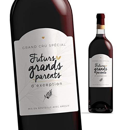 Etiquette bouteille grands parents | Futurs grands-parents - Bébé est en route | Etiquette vin...