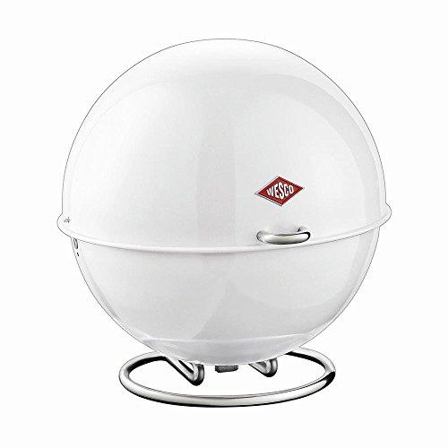WESCO - Brotkasten, Aufbewahrungskasten, Obstschale, Knabberschale - Superball - Farbe: Weiss