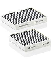 Oryginalny filtr wewnętrzny MANN-FILTER CUK 21 000-2 – zestaw 2 filtrów powietrza kabinowego – do samochodów osobowych