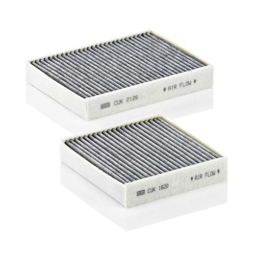 Original MANN-FILTER Innenraumfilter CUK 21 000-2 – Kabinenluftfilter Satz (2er Set) mit Aktivkohle – Für PKW