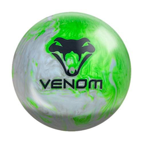 MOTIV Bowling Products Fatal Venom Bowling Ball 15lbs, Green/Clam Shell