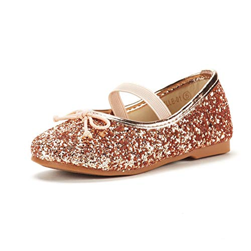 DREAM PAIRS Toddler Belle_01 Champagne Girl's Mary Jane Ballerina Flat Shoes Size 9 M US Toddler