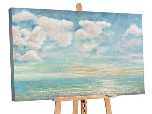 YS-Art Premium | Cuadro Pintado a Mano Enfriamiento Veraniego | Cuadro Moderno acrilico | 120x80 cm | Lienzo Pintado a Mano | Cuadros Dormitories | único | Azúl | PS064