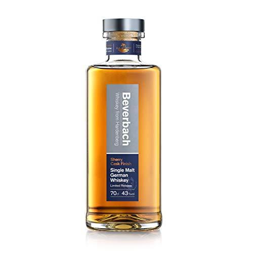 BEVERBACH Sherry Cask Single Malt German Whiskey - 6 Monate im Sherry-Fass - deutscher Single Malt Whisky mit fruchtigen Noten und warmen Holztönen Single Malt Whisky (1 x 0.7l)