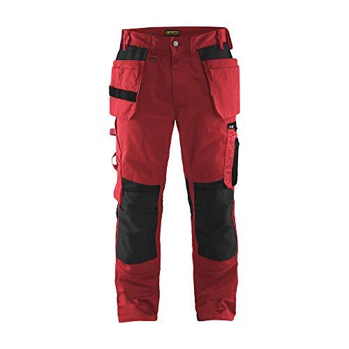 Blaklader 155518605699D96 - Pantalón de trabajo para artesanía, color rojo y negro, talla D96