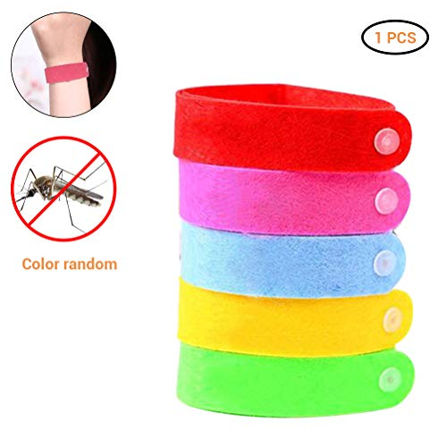Kylewo 1 pc Mückenschutz Armband, Moskito Armband Wiederverwendbares Anti Mücken Armband, Kinder Moskito Armband für Kinder und Erwachsene (Zufällige Farbe)