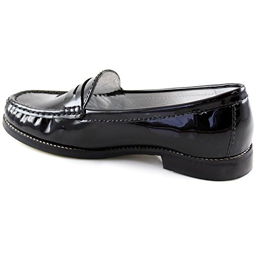 Marc Joseph NY Women's Fashion Shoes East Village Black Patent Leather Penny Loafer Size 6