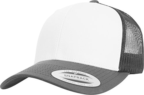 Flexfit Retro Trucker Colored Front Kappe Darkgrey/White One Size