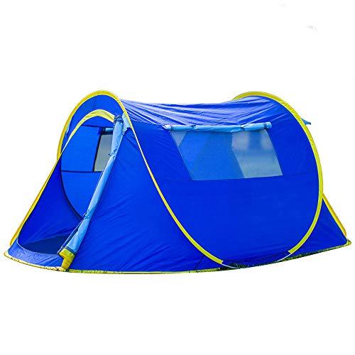 PLEASUR Instant Pop Up dubbele tent, lichtgewicht partytent voor 2 personen, draagbaar, inklapbaar, snel-setup, zomerreizen door camping tuin, blauw