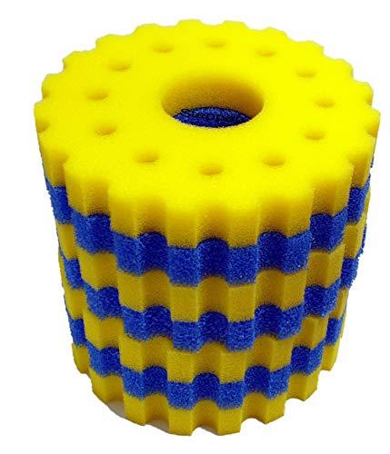 Steppan 1 Set Schwammfilter für SunSun CPF 30000 + 50000 Druckfilter. Set beinhaltet 3 x Filterschwamm blau grob + 4 x Filterschwamm gelb feinporig. Durchm. ca. 360 mm Höhe ca. 50 mm pro Matte.