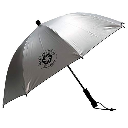 Six Moon Designs Base Silver Shadow Ultralight / 8.9 OZ Umbrella - Large Reflective Surface On Top - Walk Cooler And Better Protected