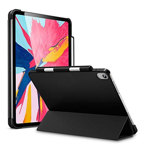 ESR iPad Pro 12.9 2018 ケース Apple Pencil2のペアリングとワイヤレス充電対応 iPad Pro 12.9 2018 カバー 軽量 薄型 PUレザー 三つ折スタンド オートスリープ機能 2018年秋発売のiPad Pro 12.9インチ専用(ダークブラック)