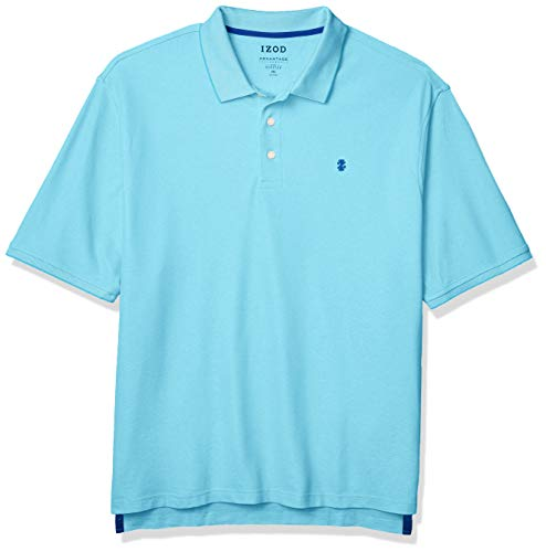 IZOD Men's Big & Tall Big and Tall Advantage Performance Short Sleeve Solid Polo Shirt, Bachelor Button Blue, XXX-Large