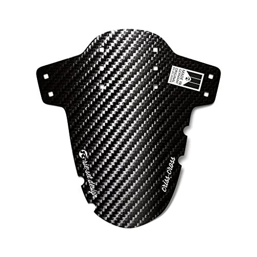Riesel Design® Mudguard - Criss:Cross – Fahrrad Schutzblech vorn inkl. Kabelbinder & 2 Sticker/Fahrrad Spritzschutz für Cyclo Cross und Gravel Bike/Schutzblech vorne für Gabel - Carbon