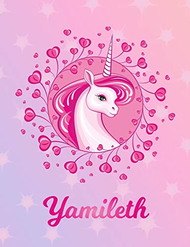 Yamileth: Unicorn Sheet Music Note Manuscript Notebook Paper – Magical Horse Personalized Letter Y Initial Custom First Name Cover – Musician Composer … Notepad Notation Guide – Compose Write Songs