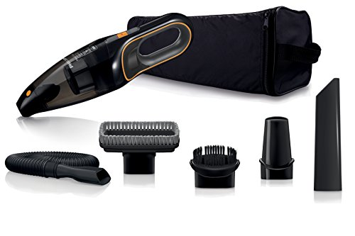 Philips FC6149/01 Autostaubsauger (Akku Handstaubsauger, beutellos, 12V NiMH, mit Zubehör Kit) schwarz