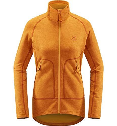 Haglöfs Fleecejacke Frauen Fleecejacke Heron Jacket Women wärmend, atmungsaktiv, Stretch beweglich Extra Small Desert Yellow M M