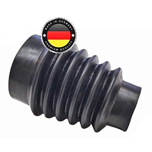 WS · SYSTEM 2x Universal Faltenbalg aus Gummi – 2 Stk flexible & dehnbare Achsmanschette MADE IN GERMANY aus hochwertigem PVC – Schelle in Größe: L 56mm-79mm Ø 13-52mm