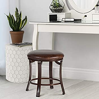 Hillsdale Furniture Hastings Backless Vanity Stool Antique Brown