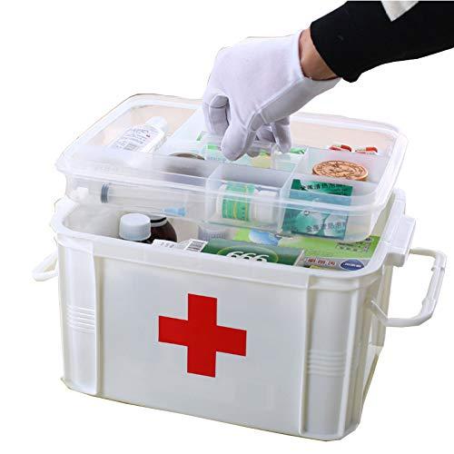 Caja De Almacenamiento De Medicamentos Caja De Almacenamiento De Medicamentos De Gran Tamaño Multifunción Caja De Almacenamiento De Medicamentos De Emergencia Multicapa De Plástico