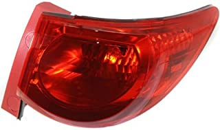 Tail Light for Chevy Traverse 09-12 Right Side Assembly Red Lens
