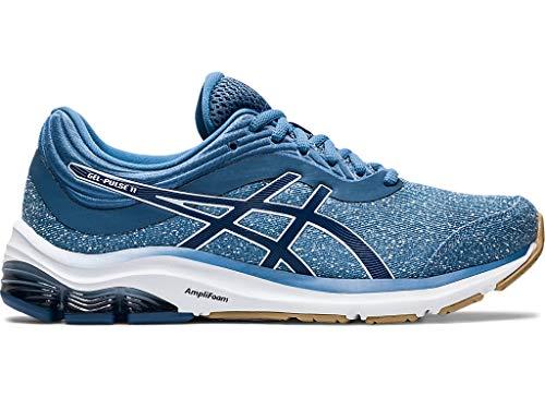 ASICS Gel-Pulse 11 - Zapatillas de running para mujer, Azul (Hilo gris/Gran tiburón), 38 EU