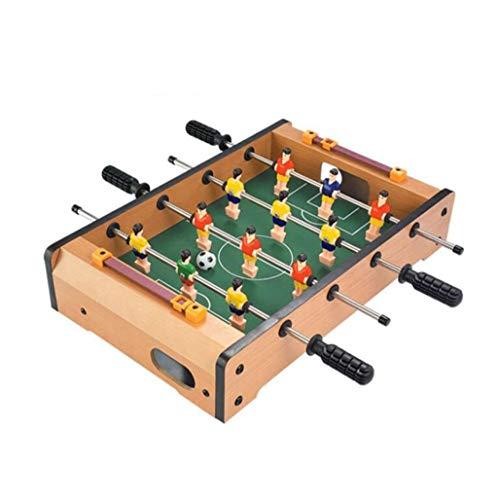 JBHURF Mini Tischfußball, Holz Indoor Tischfußball, Doppeltischfußballspiel, Tischfußballspiel, 34,5 * 21,5 * 8cm