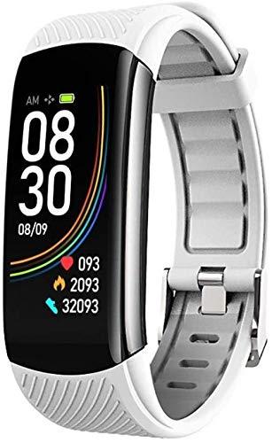 Reloj inteligente deportivo de moda, pulsera deportiva impermeable, cálculo de calorías inteligente, gestión del sueño, recordatorio de llamadas, adecuado para hombres, mujeres y niños, color gris