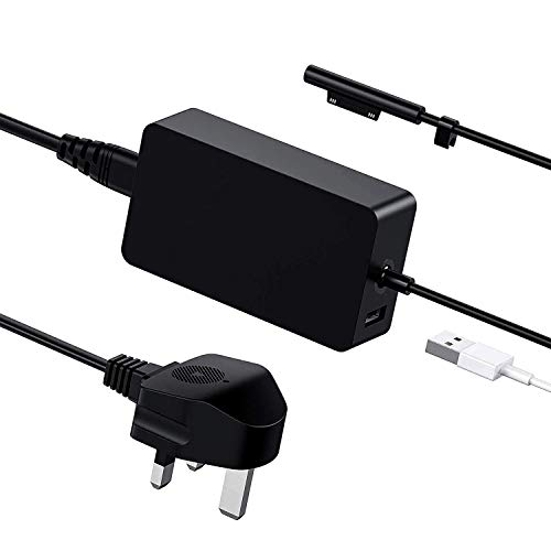 Ywcking Surface Pro Charger 65W 15V 4A, Surface Laptop Charger for Microsoft Surface Pro 3/Pro 4/Pro 5/Pro 6, Surface Go, Surface Book2, Surface Tablet 1706 1800 1735 1736 and More