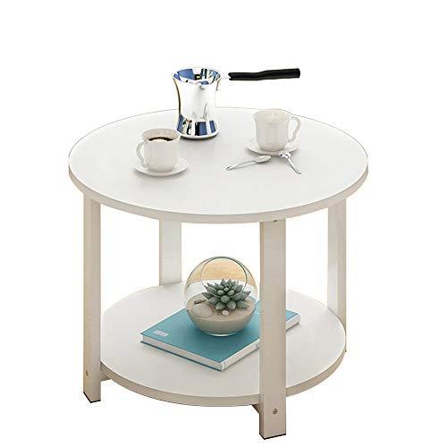 CHGDFQ Mesa auxiliar de sofá Mesa de café redonda pequeña mesa redonda moderna mesa de esquina de teléfono móvil mesa 60 x 60 x 43 cm (color: A)