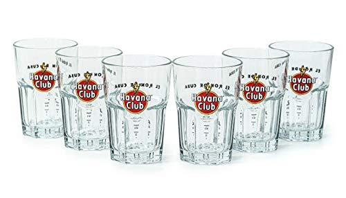 6 Stück h2i Havana Glas/Gläser Longdrinkglas Cocktailglas Tumbler Becher Gastro Bar Deko